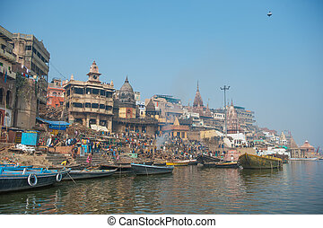 Holy city of Varanasi, India