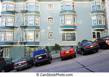 A typical San Francisco road - A view of a typical San...