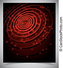 Red abstract glowing background - Vector illustration of...