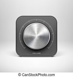 Technology Icon with with Metal Music Texture - Abstract...