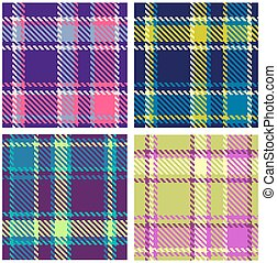 Set of Seamless Checkered Patterns