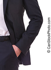 Business man with hand in his pocket.