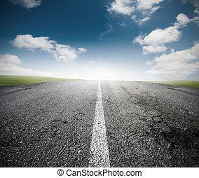 The road for the success - Concept of the road for the...