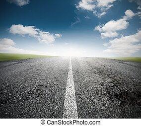 a, estrada, sucesso