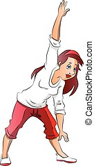 Vector of woman exercising.