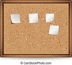 cork board with blank notes