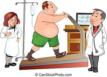Physical Checkup, illustration - Physical Checkup, vector...