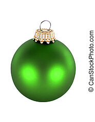 green Christmas decorations - beautiful green seasonal...