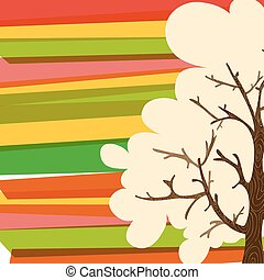 Multicolor tree background - Multicolored transparent banded...