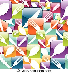 Restaurant Icon seamless pattern