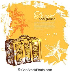 Travel colorful tropical design Splash blob background