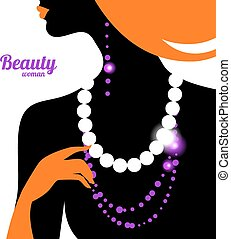 Beautiful woman silhouette