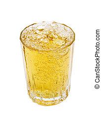 glass - full glass over white background