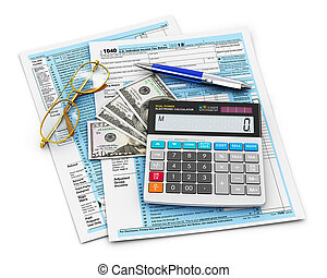 Filling of 1040 Tax form - Business finance, tax and...