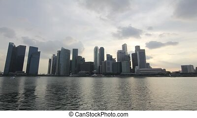 Singapore City Skyline Timelapse