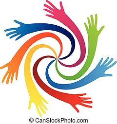 Swirly hands