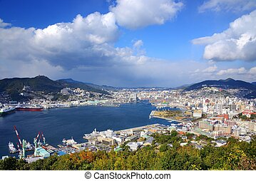 Nagasaki Bay - View of Nagasaki Bay, Japan.