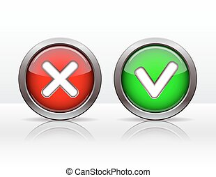 Check mark buttons Vector illustration