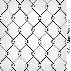 Seamless Chain Fence. Vector illustration