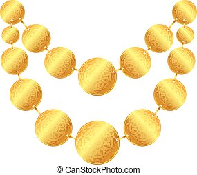 necklace - massive necklace of gold coins