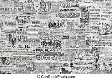 Retro newspaper. - Retro grunge paper, paper texture for...
