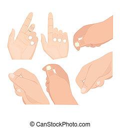Hand Set vector
