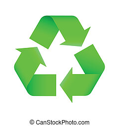 recycling symbol - Green recycling symbol. Vector...
