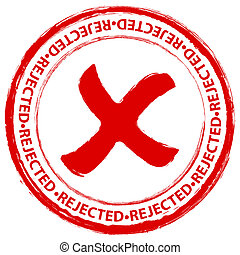 stamp rejected 4 - Red grunge rejected stamp on a white...