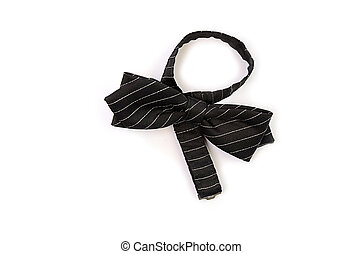 Smart bow tie - Smart black bow tie on a white background