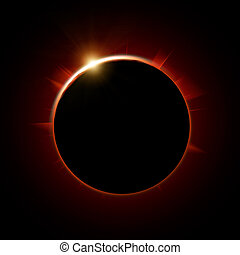 Total solar eclipse - abstract science illustration