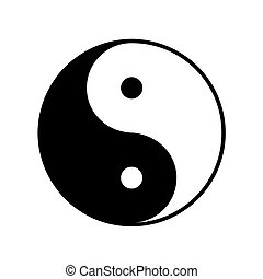 Taoistic symbol of harmony and balance on white background
