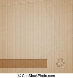 Vector background of cardboard