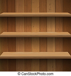 Wooden shelves Vector eps10