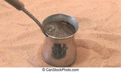 making coffee in Turkish,