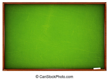 School board - Green school board - isolated on white...