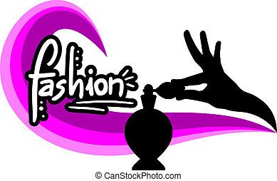 Pink fashion perfumed - Creative design of pink fashion...