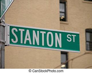 Stanton Street - Street sign in Manhattan, New York.