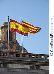 Spanish and Catalan flag