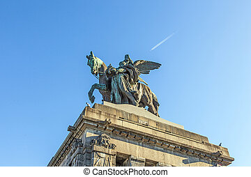 Monument to Kaiser Wilhelm I (Emperor William) on Deutsches...