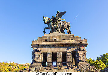 Monument to Kaiser Wilhelm I Emperor William on Deutsches...