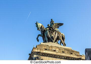 Monument to Kaiser Wilhelm I (Emperor William) on Deutsches...