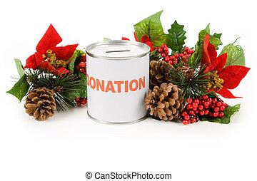 navidad, donación