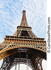 view of Eiffel tower in Paris