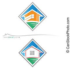 house project 22 - Two variants vector house symbols