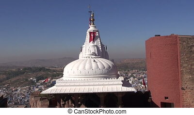 hindu temple in Jodphur city fort,Rajasthan,India