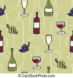 Wine Seamless background tile in Ca