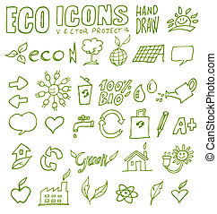 eco icons hand draw 3