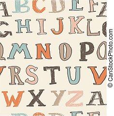 seamless retro alphabet