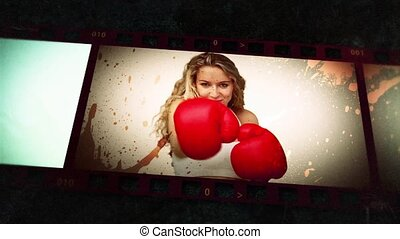 Animation of various people boxing - Animation of various...