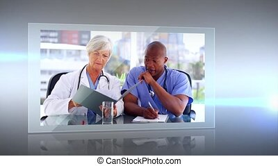Animation with medical people - Animation with various clips...